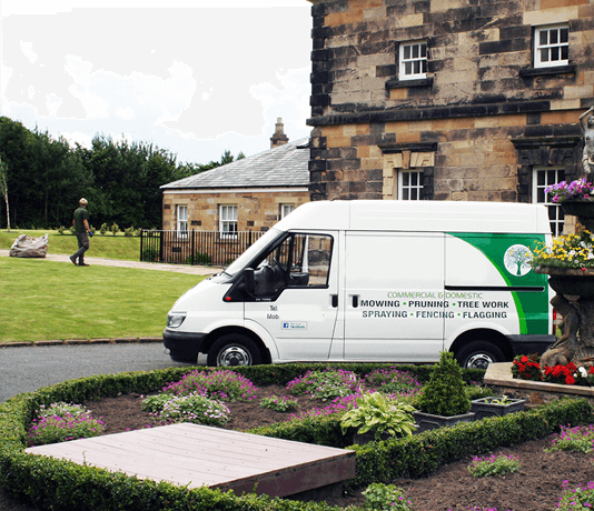 Glasgow Landsape Gardener Van and Job